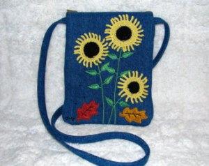 denim purse with strap